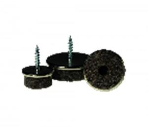 Viltglijder - Schadebo - 8717568930008 - Viltglijder chroom met schroef 30mm pot a 200st