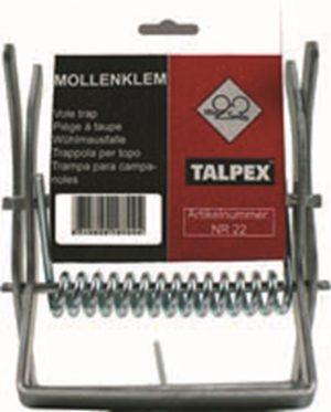 Mollenklem Talpex ® verzinkt op ZB kaart - TALPEX - 8715629000004 - TALPEX Mollenklem Talpex ® verzinkt op ZB kaart