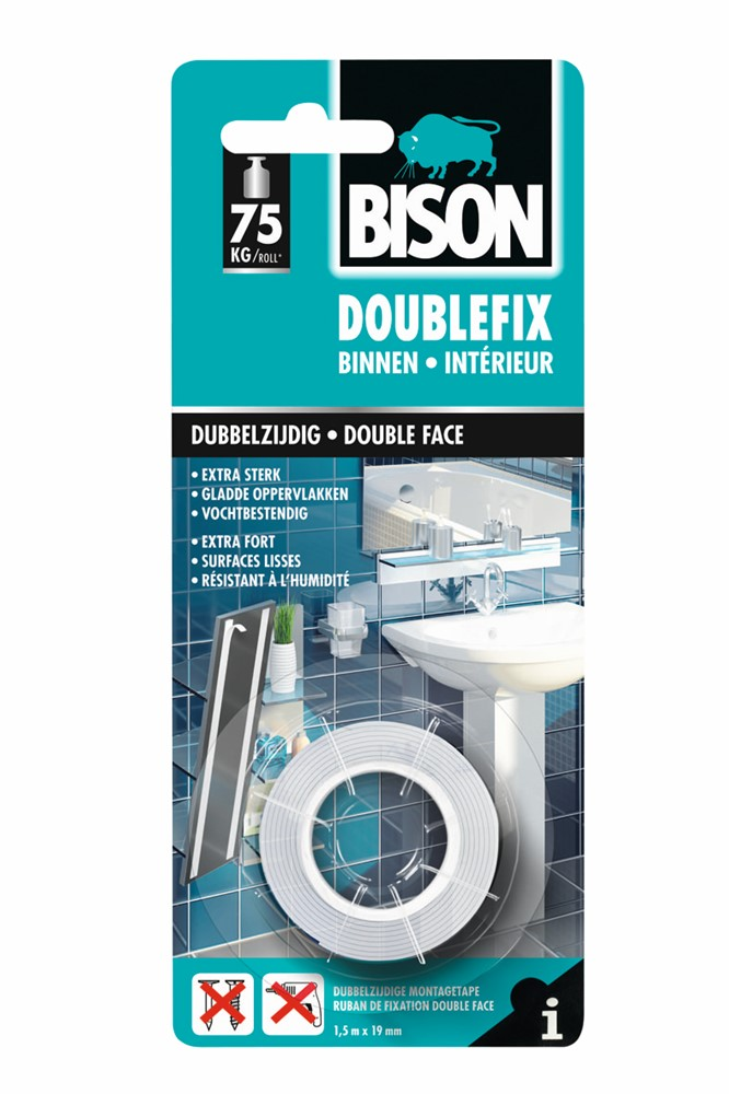 Dubbelzijdig tape – Bison – 8710439990019 –