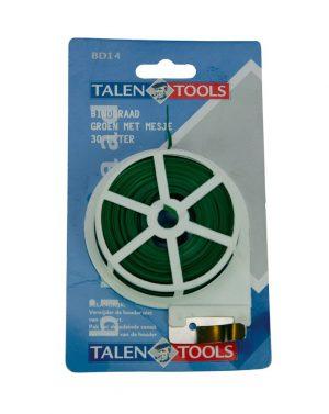 Binddraad - Talen Tools - 8712448281508 - Binddraad groen met mesje 30 m