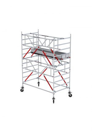 Rolsteiger breed met Safe-Quick® Guardrail Gevelvrij - Altrex - 8711563807105 - RS TOWER 52-S 4.2m Hout 185 g-vr
