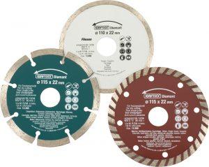 3 DIAMANT Doorslijpschijven - kwb DIY - 8714253107257 - 3 DIAM.DOORSLIJPSCH. 115/110KX