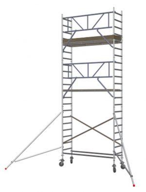 Vouw-/Rolsteiger smal 4400-S K2 met Safe-Quick® Guardrail Gevelvrij - Altrex - 8711563807105 -