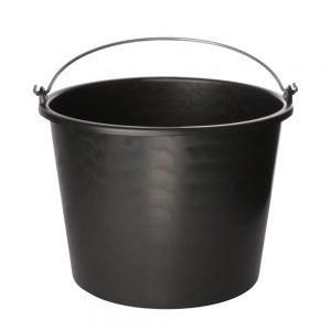 Emmer - Kreuwel Plastics Almelo BV. - 8713126000015 - Bouwemmer 12 liter 'ECO' zwart