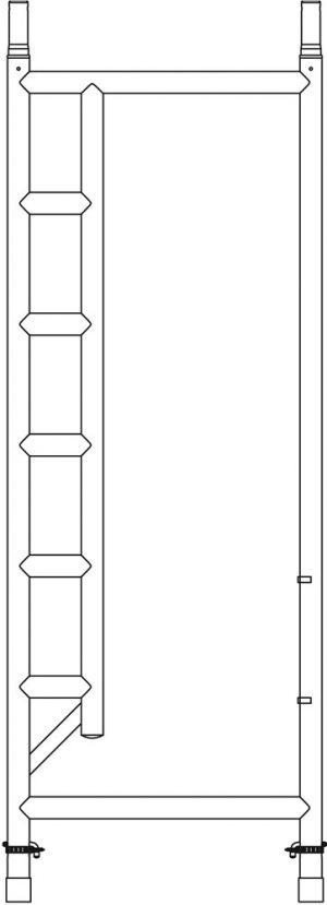 Doorloopframe - Altrex - 8711563807105 - Doorloopframe smal 75-28-7 RS5