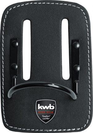 Hamerhouder met vaste beugel en riemlus - kwb DIY - 8714253107257 - HAMERHOUDER VASTE BEUGEL LEER