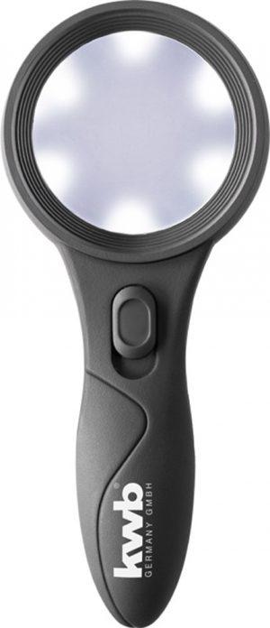 Handloep met 6 leds - kwb DIY - 8714253107257 - VERGROOTGLAS MET 6 LED