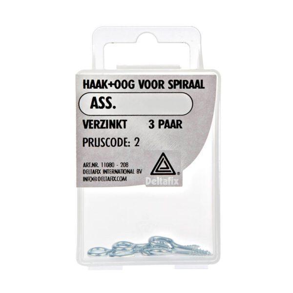 Haak+Oog voor gordijnspiraal – Deltafix – 8711517000002 –