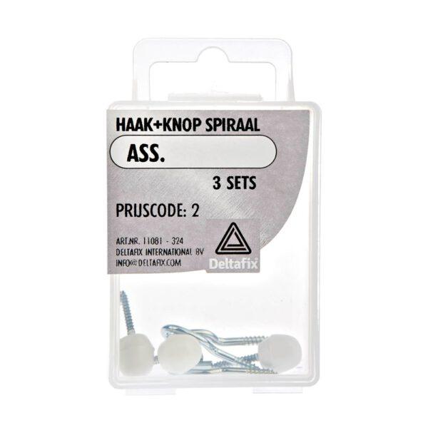 Haak+Knop  voor gordijnspiraal – Deltafix – 8711517000002 –